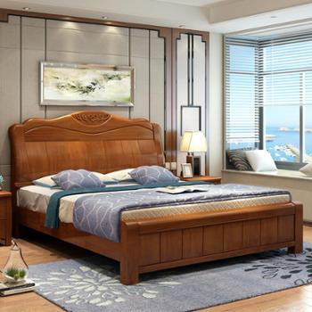 床实木床木床高箱储物床1.5米1.8米床气动床