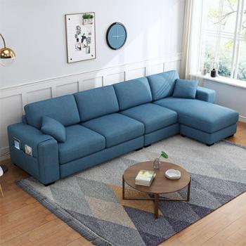 网红款北欧风INS可拆洗一字型直排整装客厅四人位沙发小户型布艺