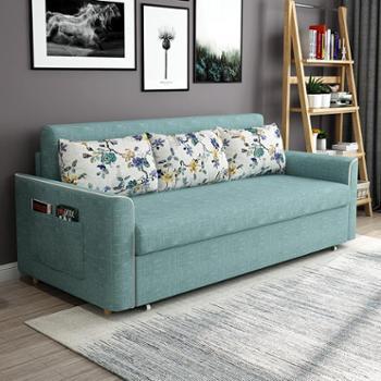 沙发床 布艺沙发折叠床小户型1.5米两用椰棕乳胶多功能北欧1.8米
