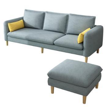 科莱斯克北欧乳胶布艺大小户型可拆洗懒人躺椅
