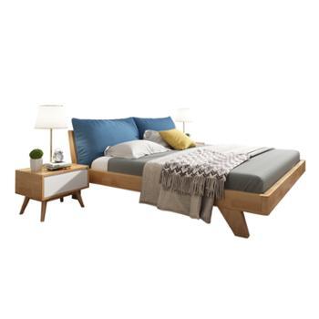 科莱斯克主卧1.8米1.5m日式软靠双人婚床
