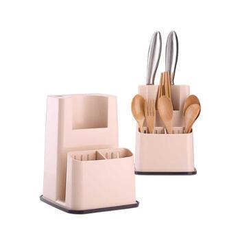 (厨房用具)FaSoLa菜刀架刀座砧板多功能厨房用品置物架子菜板刀具收纳架物架案板菜刀刀具收纳架
