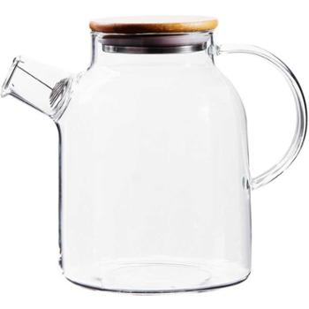 佰润居简约北欧耐高温防爆玻璃水壶套装1.6L水壶+4个杯子