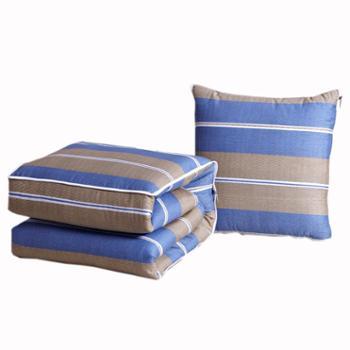 普马狮全棉印花抱枕被40*40cm展开105*150cm