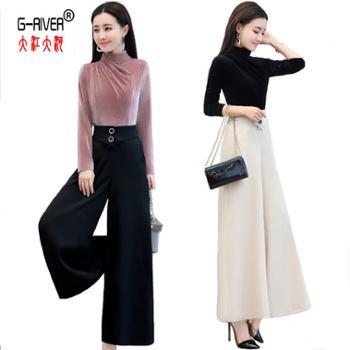 大江大河G-RIVER宽松韩版显瘦女两件套装/套裙