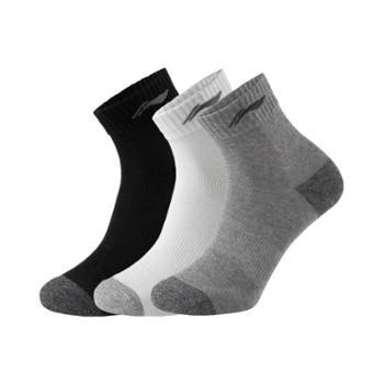 李宁男子运动短袜三双装