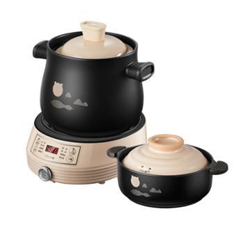 小熊/Bear电砂锅DSG-B40J3家用煮粥煲汤锅焖锅