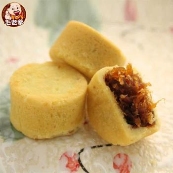 台湾进口食品毛老爹凤荔酥一口酥零食糕点16入 礼盒节日送礼佳品