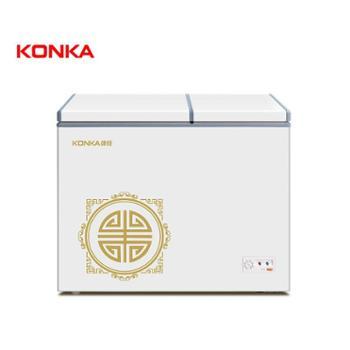 Konka/康佳BCD-178DTS家用冷柜商用小冰柜大容量节能卧式双温区