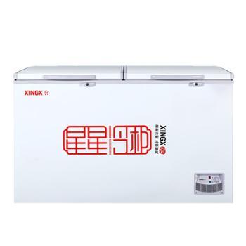 星星大冰柜商超双温容量冷藏冻保鲜两用卧式带锁BCD-370E