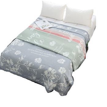 望虞竹三层纱布成人全棉毛巾被2*2.3M双人床用适用1.8/2米床