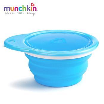 美国munchkin满趣健美国麦肯齐宝宝防摔折叠辅食碗宝宝吃饭训练碗
