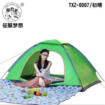 探险者户外双人单层情侣野营帐篷户外帐篷出游