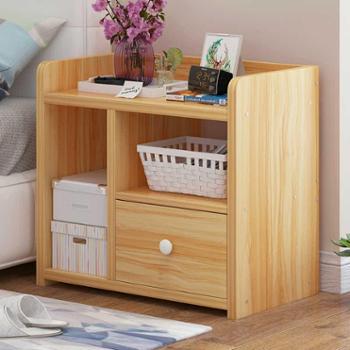 床头柜宿舍收纳柜简约现代实木色经济型床边小柜子北欧卧室小桌子