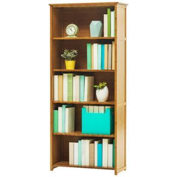 实木简易书架置物架实木多层落地中式储物收纳架客厅复古书柜