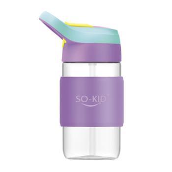 好奇小子玻璃随手便携儿童带斜挎防漏可爱水杯