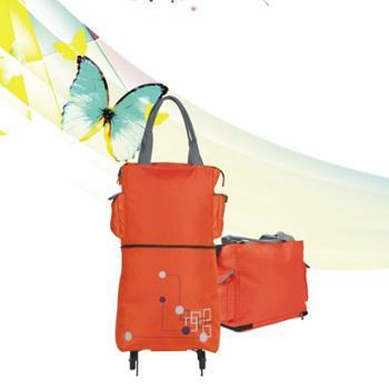 攀能PN-2871环保折叠可背式购物车便携拖轮挂袋 手提包可变买菜车