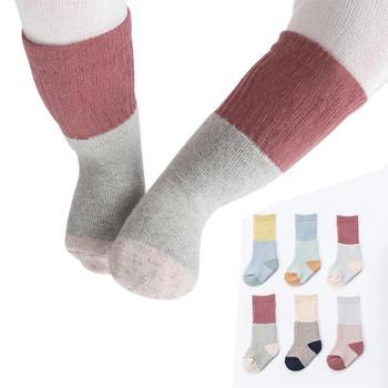 【3双装】宝宝袜子 冬季毛圈袜男童女童儿童袜中筒袜新款棉袜婴儿袜子 ND00