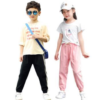 夏季儿童灯笼裤棉麻防蚊裤