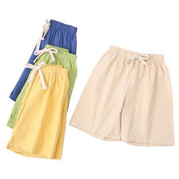 夏季儿童棉麻短裤热裤