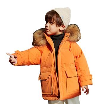 家羚 儿童羽绒服男童加厚冬装 中小童