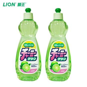 Lion/狮王日本进口妈妈柠檬CHARMYGREEN蔬果洗洁精2瓶装