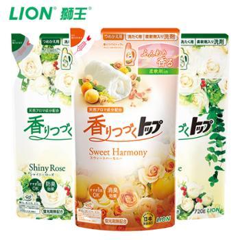狮王日本进口洗衣液plus防臭持久香氛柔顺洗衣液替换装720g*3袋