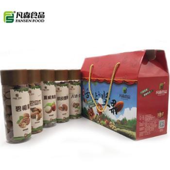凡森食品舌尖上的坚果礼盒桶装500gx5桶