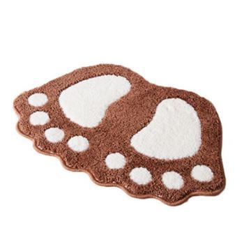 大小脚丫浴室防滑地垫地毯卫生间吸水防滑脚垫进门垫