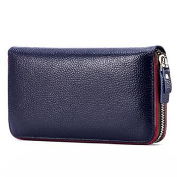 啄木鸟新款女士长款钱包真皮头层牛皮休闲手包