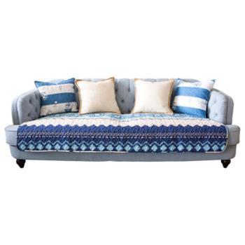 沙发垫地中海全棉防滑沙发垫