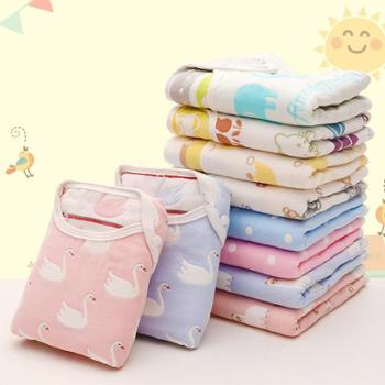 俞兆林 婴儿纱布背心睡袋 新生儿睡袋薄款 儿童无袖睡被防踢被