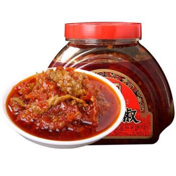 苗姑娘 贵州特产风味肉丝泡椒辣椒酱 750g/桶
