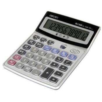 得力1529语音计算器水晶大按键计算机12位数大屏幕