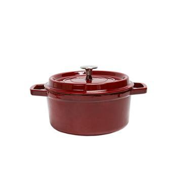网易严选经典铸铁珐琅锅24cm(胭脂红)