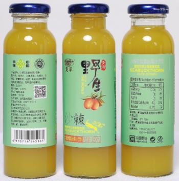 龙羊 沙棘软梨复合果汁 12瓶/箱/250ml
