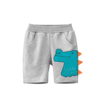 馨霓雅男童恐龙棉质五分裤6258