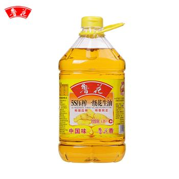 鲁花 5S一级压榨花生油 食用油 4.36L