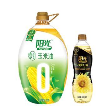 金龙鱼零反式脂肪玉米油5L+金龙鱼阳光鲜榨葵花仁油900mL