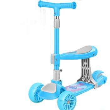 贝爵儿童滑板车2-3-6-9岁折叠三合一可坐溜溜车女孩男宝踏板车
