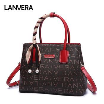 LANVERA/朗薇女包大容量手提包斜挎妈妈包L8723