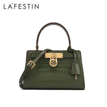 LaFestin/拉菲斯汀女士真皮手提包单肩斜挎凯莉包620725