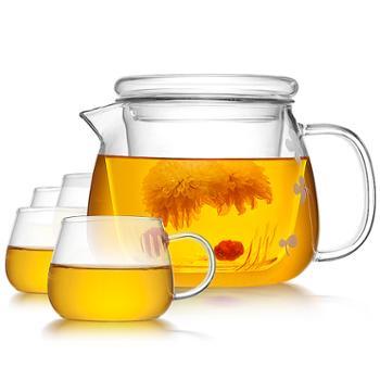 物生物玻璃花茶壶泡茶过滤恒温水壶加热茶具套装