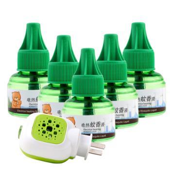 巴比诺电热蚊香液5瓶1加热器驱蚊器无味灭蚊
