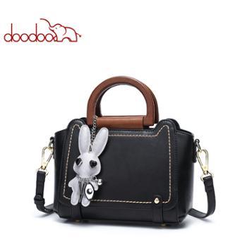 doodoo女包包百搭手提包韩版时尚单肩斜挎包D8027