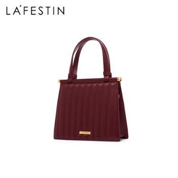 LaFestin/拉菲斯汀女包百搭手提单肩斜挎链条包621087