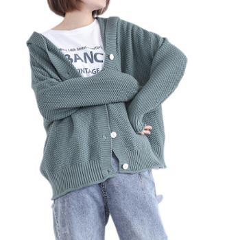 lizhiqi/莉之绮韩版针织开衫休闲宽松毛衣外套930015