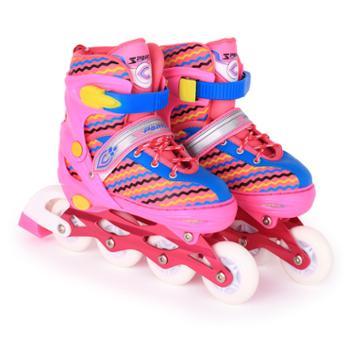 鑫思蓬全闪白光轮滑鞋成人男女双排速滑鞋儿童溜冰鞋