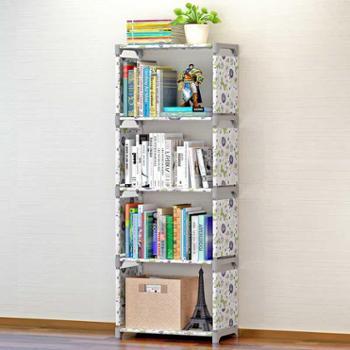 索尔诺中号简易书架书柜置物架创意组合层架子落地儿童书橱
