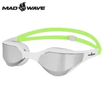 迈俄威MADWAVE泳镜M91810镀银/透明